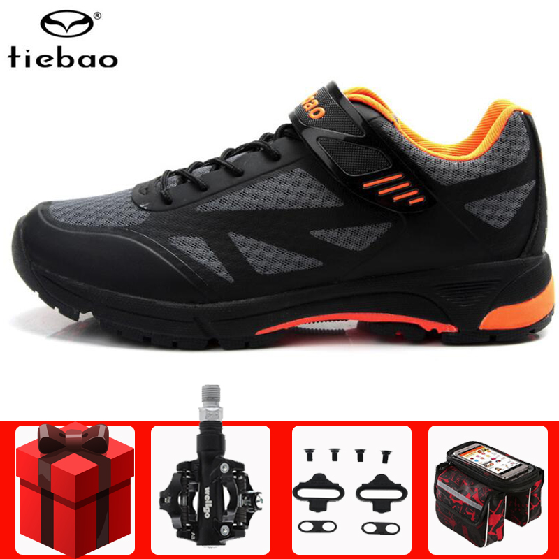 Tiebao Leisure Cycling Shoes Men Sapatilha Ciclismo Mtb Men Sneakers Women Sports Mountain Road Bike Shoes Unisex Athletic Shoes