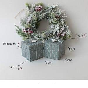 Image 3 - Набор из 10 подарочные коробки для вечеринок с лентой и ярлыком подарочные коробки мир и радость Праздничная коробка Рождественский подарок Подарочная коробка товары для вечеринок
