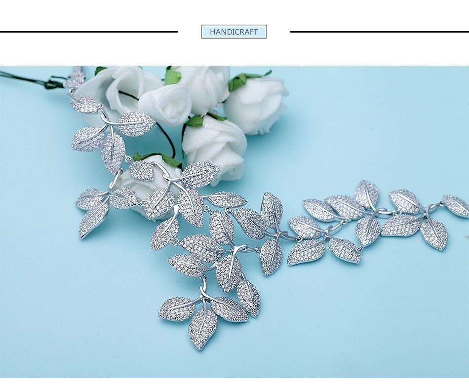 Fashion Leaf silver jewelry set