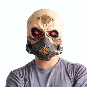 Scary Halloween Mask Steampunk Gas Mask Halloween Mask Headdress Horror Mask Cosplay Costume Party Terror Latex Decoration halloween old man scary mask cosplay scary full head latex mask horror funny cosplay party mask old man head helmet masks