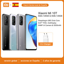Xiaomi – Smartphone Mi 10T, Version globale, Snapdragon 865 Octa Core, 144Hz, caméra arrière 64mp, écran 6.67 pouces, téléphone portable
