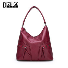 DIZHIGE Brand Fashion Soft PU Leather Women Handbag High Quality Crossbody Bag For Vintage Large Capacity Multi-pocket