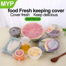 Silicone Cover Wrap-Bowl Kitchen-Accessories Stretch-Lids Universal Pot Lid Food-Grade