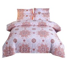 Quilt Cover Set Polyester Bed Cover Set Bedding Bedding Bohemian National Wind Quilt Without Sheet Cover Three-piece W726(China)