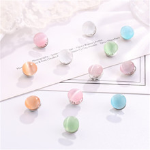 1 pack (10 pcs) opal button brooch small fresh anti-going suit fixed clothes decoration creative wild silk scarf cufflinks