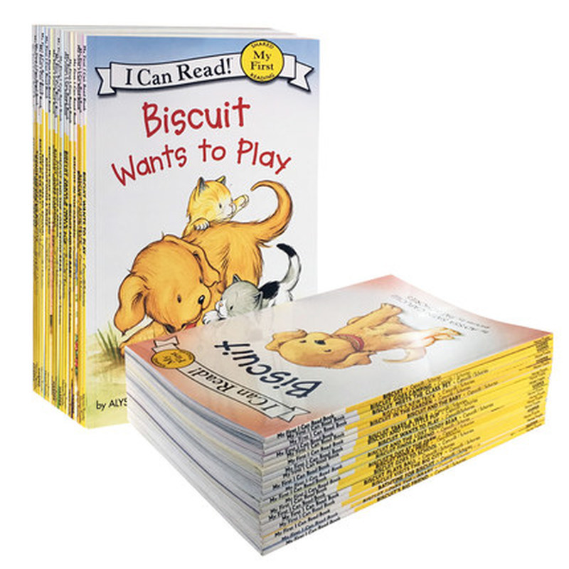 22 livres/ensemble Biscuit série anglais livres d'images je peux lire livre d'histoire pour enfants livre de lecture d'éducaction précoce pour les enfants - 3
