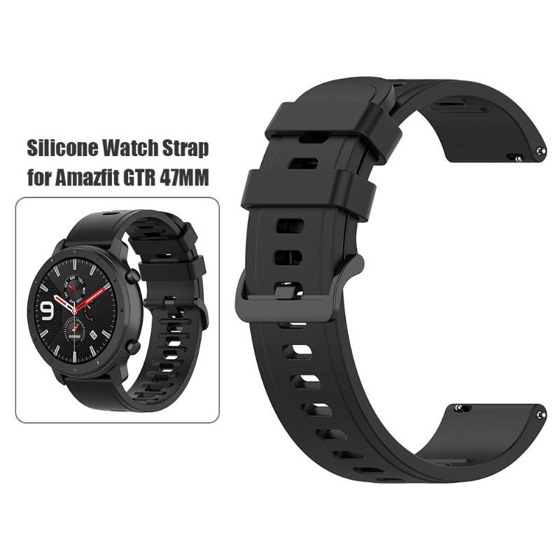 22mm Silicone Watchband Wrist Strap Belt For Amazfit GTR 47mm/Pace/Stratos Sport Smart Watch Replacement Strap Wristbands