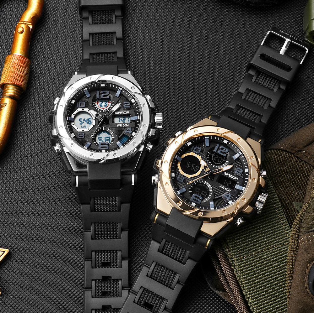 H72bfea0827e8456b8c6234eed8d48088K SANAD Top Brand Luxury Men's Military Sports Watches 5ATM Waterproof