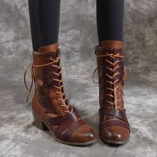 2020 Новая женская зимняя обувь для прогулок на природе со шнуровкой
