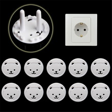 10pcs Baby Safety Child Electric Socket Outlet Plug Protection Security Two Phase Safe Lock Cover Kids Sockets Cover Plugs cheap Plastic 0-6m 25-36m 3-6y 7-12m 13-24m 7-12y 12+y Unisex CN(Origin) Solid door lock door lock for children child lock child locks cabinet lock window lock