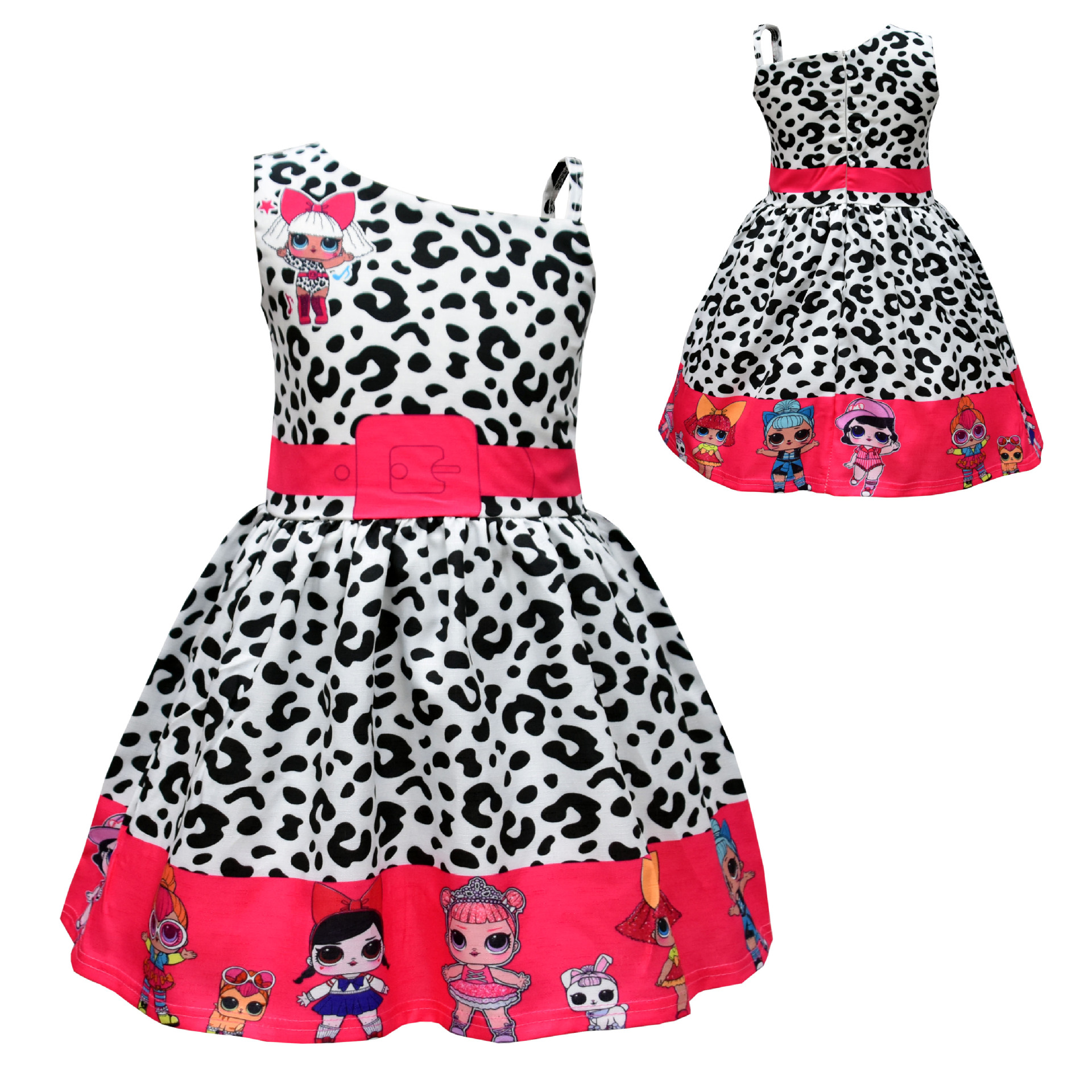New Summer Surprise Girl Princess Dress Cute Cartoon Unicorn Party Dress Children Clothing 3