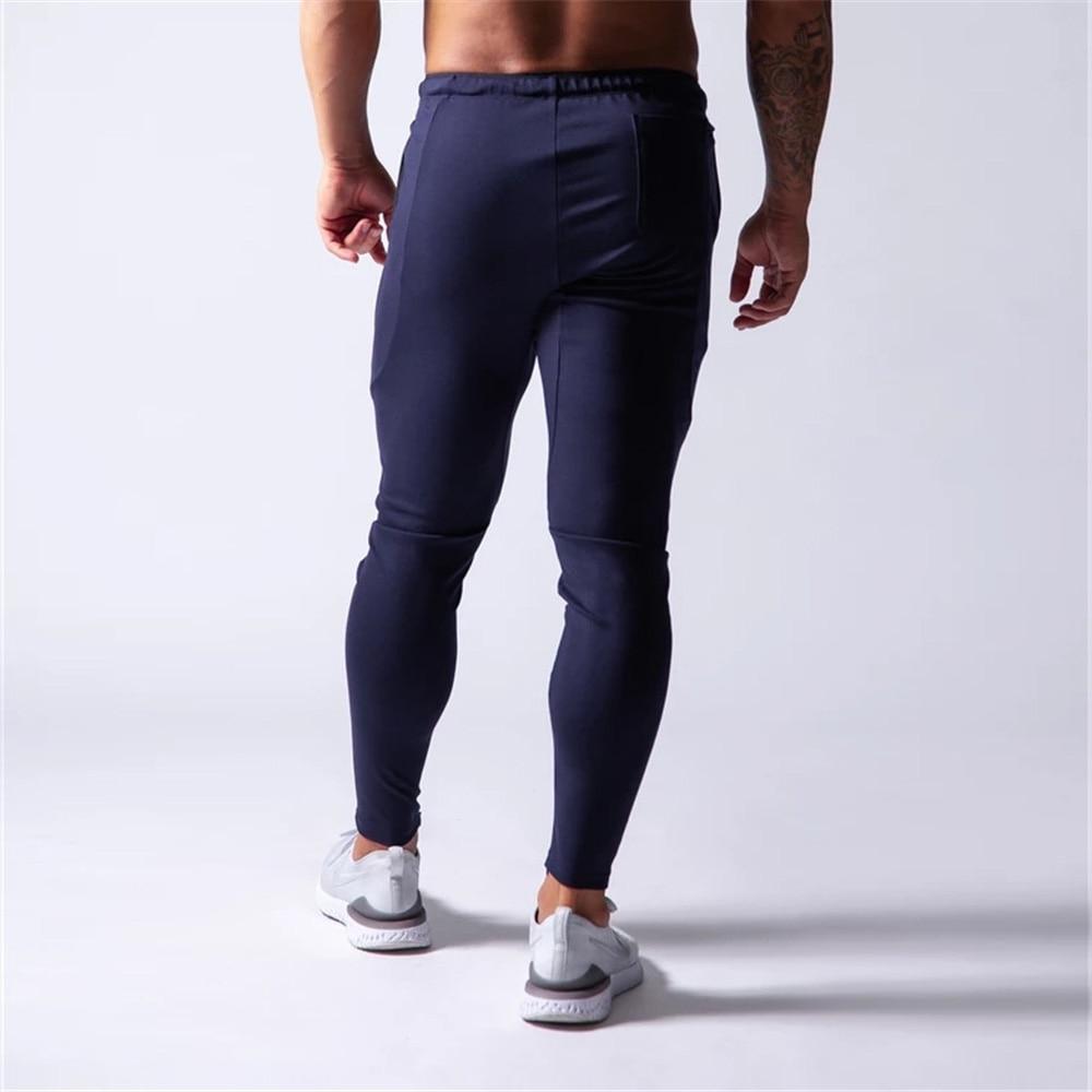 New Jogging Pants Men Sport Sweatpants Running Pants Men Joggers Cotton Trackpants Slim Fit Pants Bodybuilding Trouser 20CK01-2 3