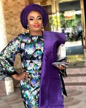 Moda afrika tül dantel kumaşlar ile Sequins yüksek kalite nijeryalı Net dantel gelin malzeme Sequins dantel kumaşlar APW2781B