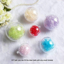 Acrylic plastic transparent hollow ball festival/party stage decoration hanging candy box Christmas ball 4-14cm(diameter)