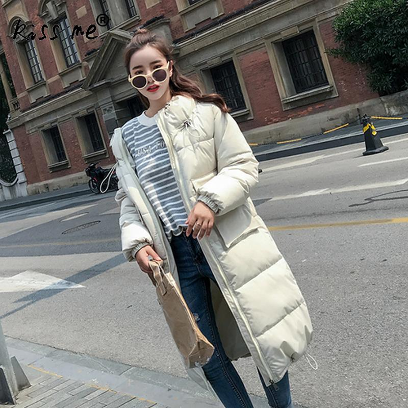 Winter Cotton Thermal Outdoor Down Coat Camping Hiking Jacket Warm Windproof Mid-Long Casual Coat Ladies Autumn Clothes