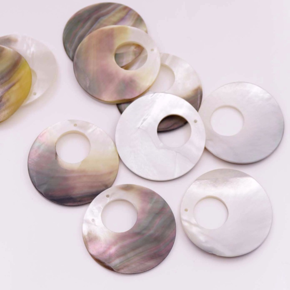 Купить с кэшбэком 10 PCS black Shell Pendants Natural Mother of Pearl Charms Crafts 25mm 35mm Choose