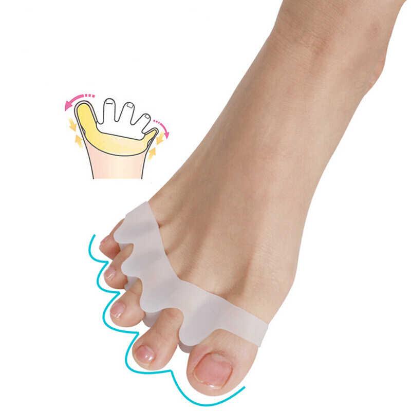 2Pcs Silicone Borsite Corrector Toe Protector Borsite Pollice Valgo Protezione Prevenire Vesciche Nail Strumento di Cura Del Piede Separatore della Punta