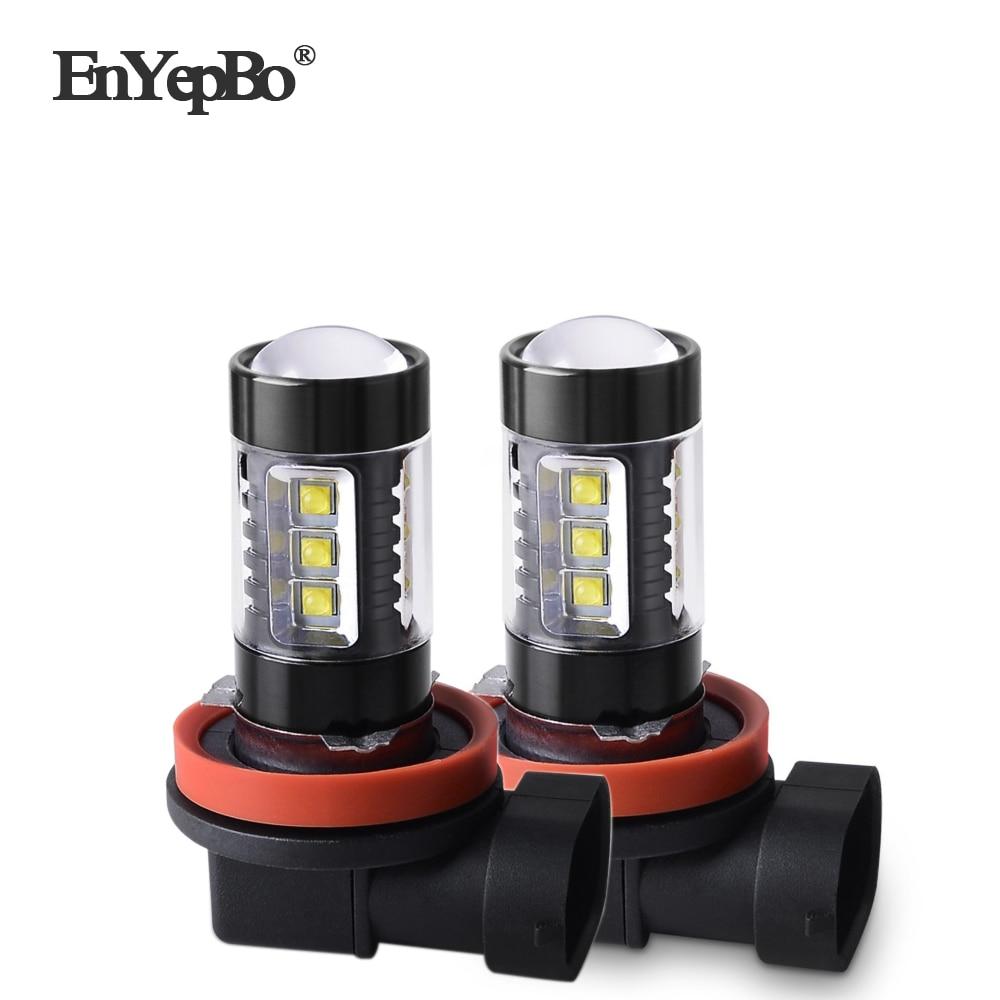 2 pces led luzes do carro h8 h9 nevoeiro bulbo h11 drl luz de circulacao diurna