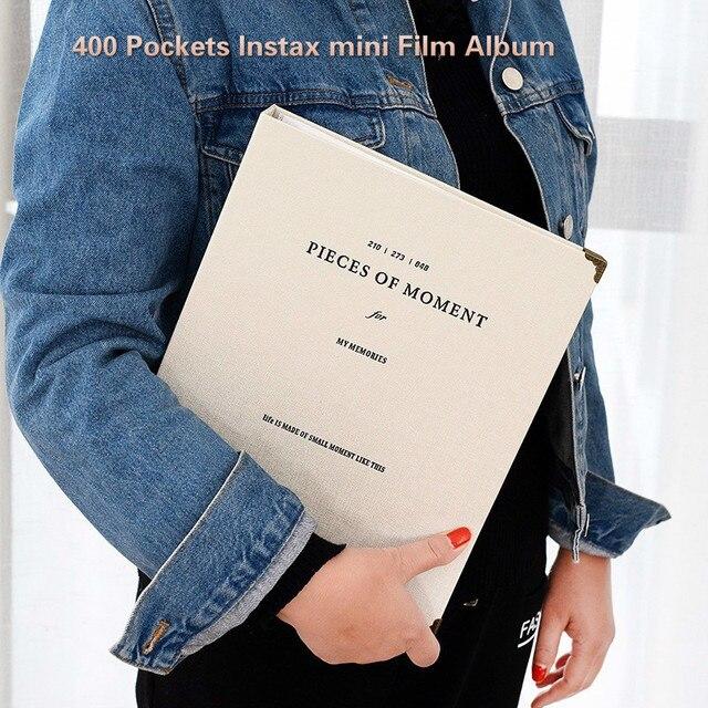 400 Túi Mini Ảnh Tức Thì Album Hình Ốp Lưng Dùng Cho Máy Fujifilm Instax Phim 7CS 8 9 25 50 70 90