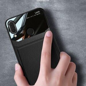 Image 4 - I coque, kapak, durumda, xiaomi Redmi için not 7 Pro Note7 deri ayna cam silikon darbeye dayanıklı telefon lüks yumuşak sevimli kılıflar