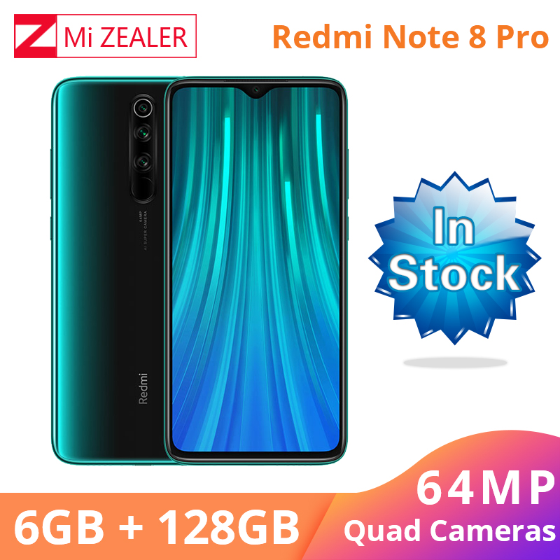 New Xiaomi Redmi Original Note 8 6GB RAM 128GB ROM Snapdragon 665 Smartphone 48MP Quad Rea camera cellphone
