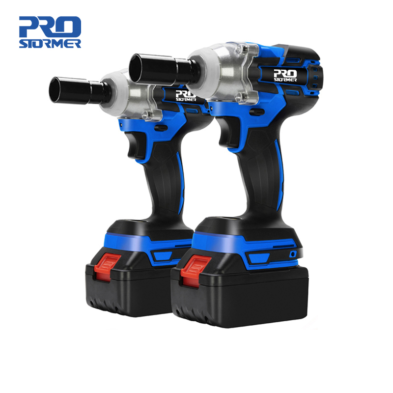 21V Impact Wrench Brushless Cordless Electric Wrench Power Tool 320N m Torque Rechargeable Extra Battery Avaliable By PROSTORMER