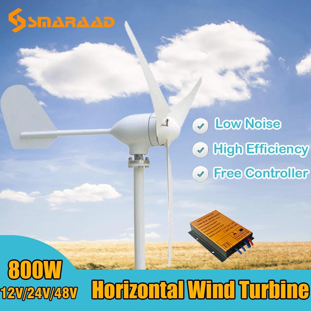 preco de fabrica 800w 12v 24v 48v gerador de turbina eolica com controlador de vento a