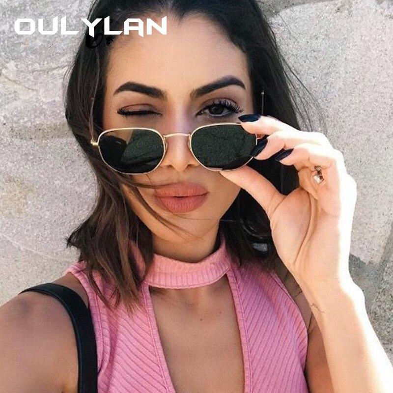 Женские и мужские солнцезащитные очки Oulylan, Винтажные Солнцезащитные очки с металлической оправой, UV400|Женские солнцезащитные очки| | - AliExpress
