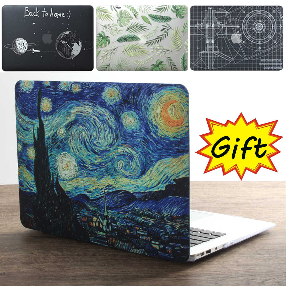 Nueva funda para ordenador portátil para Apple MacBook Air Pro Retina 11 12 13 15 16 para mac book Pro 13,3 15,4 16 pulgadas con Touch Bar + teclado cove