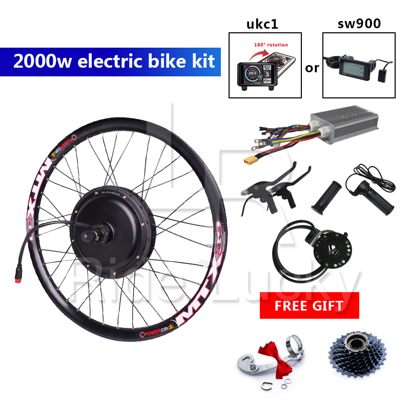 60-75KM/H speed e bike kit 48v-<font><b>60v</b></font> <font><b>2000w</b></font> electric bike conversion kit with waterproof quick release cable image