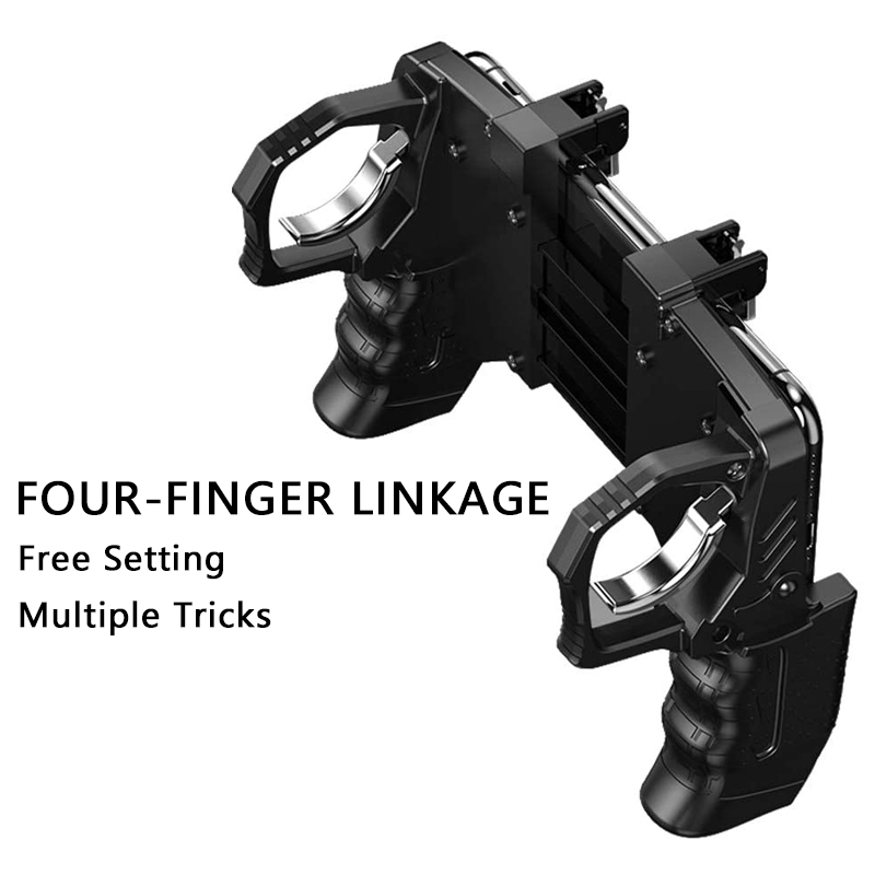 cheapest PUBG Mobile Trigger Controller Control For Mobile Phone Game L1 R1 Shooter Triggers Fire Button For iPhone Android Phone Gamepad