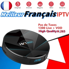 HK1MINI Android 9.0 TV BOX RK3318 with French iptv channels 2.4/5G Wifi Franch Spain Portugal Arabic iptv Smart Set-top Box TV anewkodi mag250 linux system iptv set top box with usb wifi spain portugal turkish netherlands sweden french mag250 iptv account