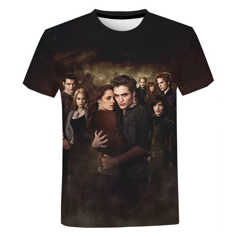 The Twilight Saga 3D T-shirt Hot Movie Harajuku Streetwear Printed T Shirt Men Women Fashion Casual Funny T Shirt Tee Tops