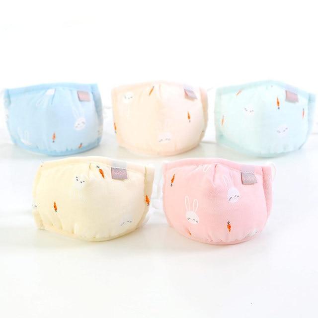 Boy Girl Face Cotton Mask Children Breathable Carton Mask Washable Cotton Kids Cute Animal Anti-Dust Mouth Masks 2