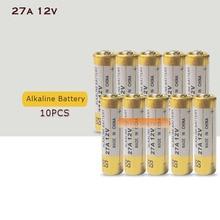 10 шт. 27A 12V сухая щелочная батарея 27AE 27MN A27 для дверного звонка, автосигнализации, музыкальными плеерами, автомобильный пульт дистанционного управления и т. д
