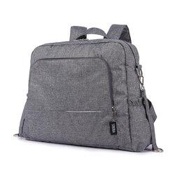 Мульти-Функция Водонепроницаемый сумка из узорчатой ткани стильная дорожная сумка-тоут с коляской полоски матрасик для пеленания комплект...