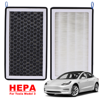 2 sztuk węgiel aktywny filtr powietrza HEPA dla Tesla Model 3 2017-2021 PM2 5 filtr powietrza HEPA Cleaner filtr kabinowy filtr powietrza samochodowy filtr powietrza HEPA tanie i dobre opinie CN (pochodzenie) Air Filter HEPA Cotton For Tesla Model 3 Car Air Filter HEPA Activated Carbon Air Filter Cabin Air-Filters For Tesla