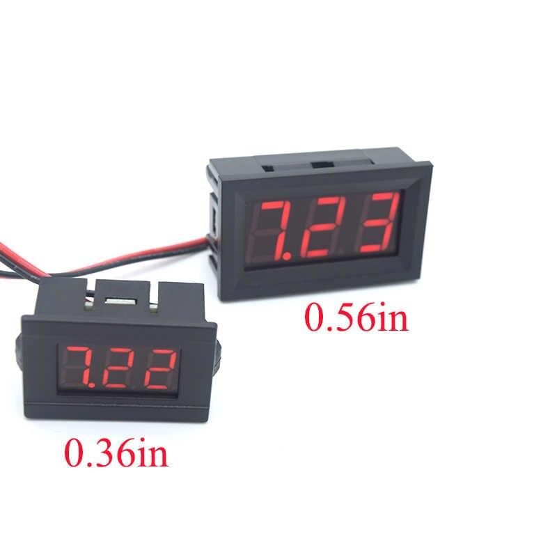 Mini Digital Pengukur Tegangan Volt Tester DC 4.5 V untuk 30 V 2-Wire Mini LED Display Tegangan Meter untuk Pengujian mobil Sepeda Motor Mobil