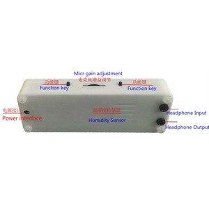 Image 3 - Pantalla de espectro de música OLED para coche, amplificador de Medidor de VU con Control de voz, micrófono, 8 tiempos de efectos de visualización, 3,12