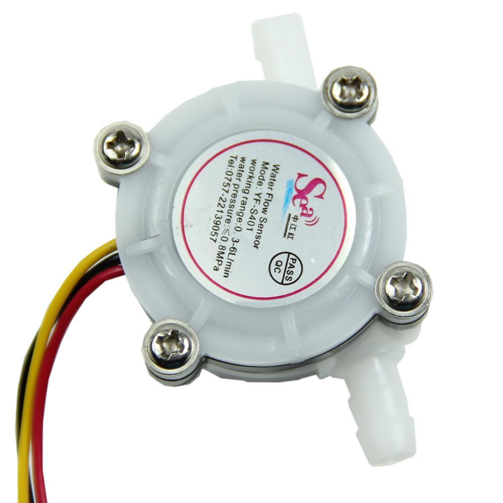 2014 1pc Water Coffee Flow Sensor Switch Meter Flowmeter Counter 0.3-6L/min New