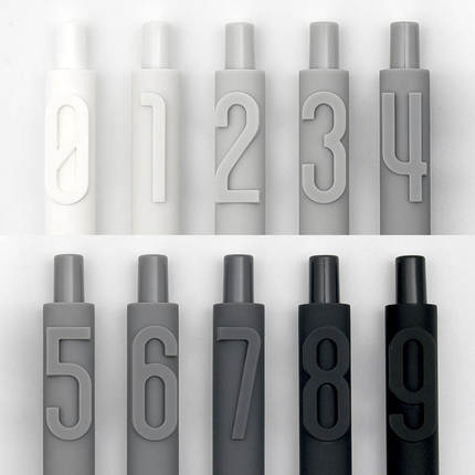 1pc  Number Creative Combination Gel Pen Black Ink 0.5mm Student Unique Writing Pens Customization School Office Supplies