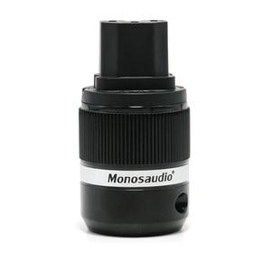 Image 4 - 쌍 Monosaudio 하이 엔드 E100G/F100G 순수 구리 금도금 EUR 전원 플러그 IEC 커넥터 플러그 hifi 오디오 shucko 전원 플러그