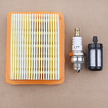 Air Fuel Filter Spark Plug Kit For Stihl FS120 FS200 FS250 FS300 FS350 FS400 FS450 Trimmer 4134 141 0300 38mm cylinder piston pin ring kit for stihl fs120 fs200 fs200r fs250 parts 4134 020 1212 brush cutter trimmers