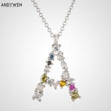 Andywen серебро 925 пробы 26 букв золото Начальная Буква a b