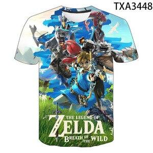 2020 New Summer Boy Girl Kids Zelda Fashion Streetwear Men Women Children 3D Printed T Shirt Short Sleeve Casual Cool Tops Tee