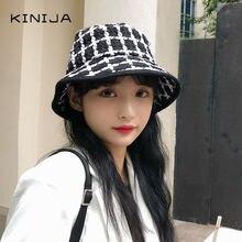 Женская Классическая клетчатая шляпа в рыбацком стиле Корейская