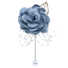 Wedding Flower Pins Gift Easy Wear Boutonniere Bridesmaid Handmade With Pearls Corsage Ceremony Universal Artificial Decoration(China)
