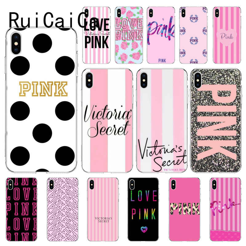RuiCaiCa Victoria VS LOVE PINK Customer High Quality Phone Case for iPhone 8 7 6 6S Plus X XS MAX 5 5S SE XR 10 11 11 pro Max