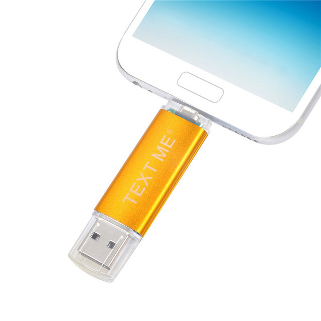TEXT ME creative OTG usb 2.0 64GB USB flash drive pen drive 4GB 8GB 16GB 32GB memory Stick 4