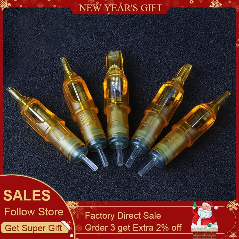 BIOMASER Hot Sale 10pcs Disposable Semi-Permanent Makeup Tattoo Cartridge Needle RL/RM/M1/RS Tattoo Gun Supplies 1RL/3RL/5RL/7R